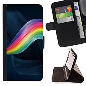 - Rainbow Swirl/ Personalizada del estilo del dise???¡¯???¡Ào de la PU Caso de encargo del cuero del tir???¡¯????n del s - Cao - For Apple Iphone 5C
