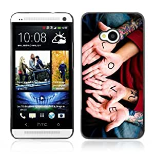 Designer Depo Hard Protection Case for HTC One M7 / Love Hands Cool
