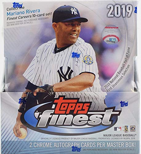 2019 Topps Finest MLB Baseball HOBBY box (12 pks/bx, TWO Autograph cards)