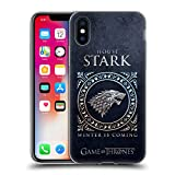 Official HBO Game of Thrones Stark Metallic Sigils Soft Gel Case for iPhone X/iPhone Xs