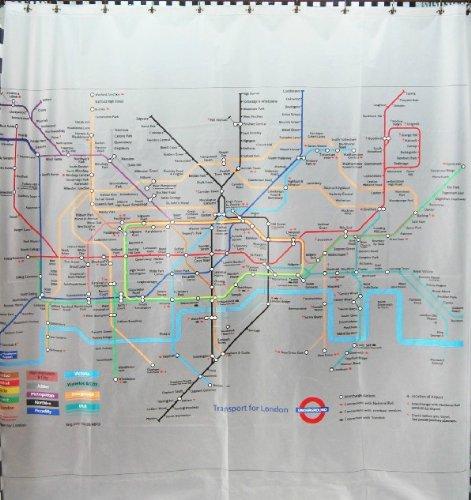 London Underground, waterproof handprint shower curtain 180 * 180cm:  Amazon.co.uk: Kitchen & Home