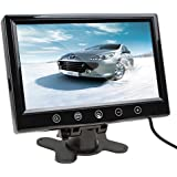 SallyBest® 9 Inch 16:9 HD Pillow TFT LCD Color Screen Car Rearview Monitor Support 2 Video Output Widescreen Car Rear View Headrest DVD VCR Monitor With Touch Button & Remote Control