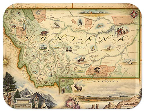 Trays4Us Montana 16x12 inches (Large) Map Serving Tray - 70+ Different ()