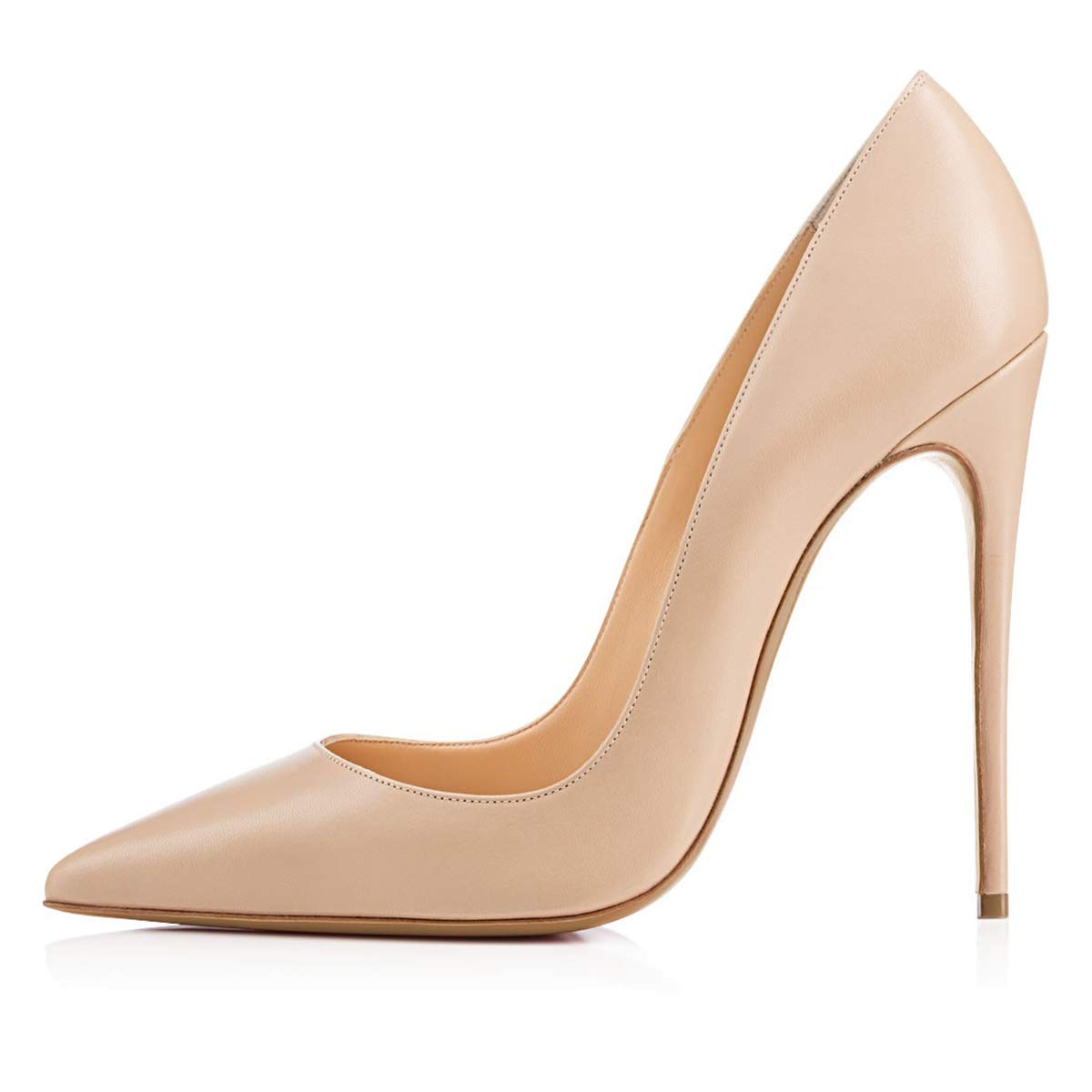 5c90cb4a988 FSJ Women Glossy Fresh Colors Pointed Toe Heels Formal Dress Pumps Shoes  Size 4-15 US