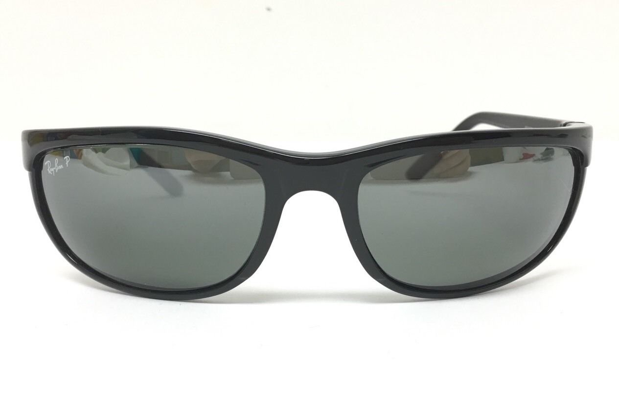 7a7e09b53d Ray-Ban RB2027 Predator 2 Polarized Sunglasses Black w Gray Mirror (601 W1)  RB 2027 601W1 62mm Authentic Apparel