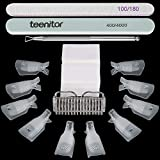 Teenitor gel nail remover kit with10pcs Gel Clip