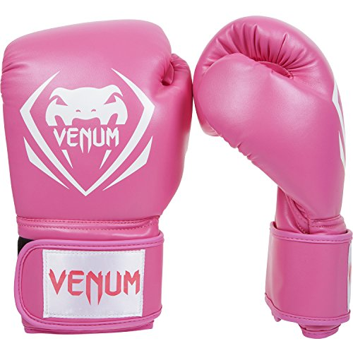Venum Contender Boxing Gloves, Pink, 12-Ounce