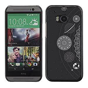 Be Good Phone Accessory // Dura Cáscara cubierta Protectora Caso Carcasa Funda de Protección para HTC One M8 // White Stars Planets Solar System