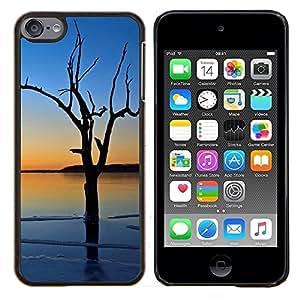"""Pulsar Snap-on Series Teléfono Carcasa Funda Case Caso para Apple iPod Touch 6 6th Touch6 , Sea Blue Tree romántica Naturaleza"""""""
