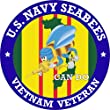 MilitaryBest US Navy Seabees Vietnam Veteran Decal (2 Pack) by MilitaryBest