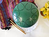 WuYou Special Notes 8'' Steel Tongue Drum Handpan Tank, FREE Bag & Mallets