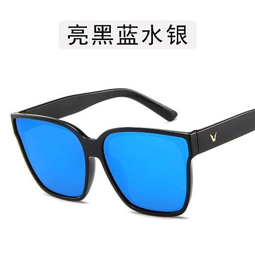 Yangjing-hl Gafas de Sol de conducción Personalidad Big Box ...