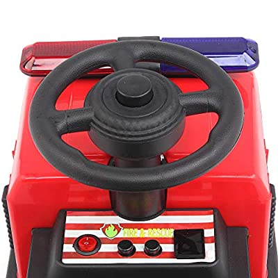 VALUE BOX 3 in 1 Kids Push Car Fire Truck Ride On Car, Toys Car w/ Easy Button, Music, LED Lights and Horns: Toys & Games