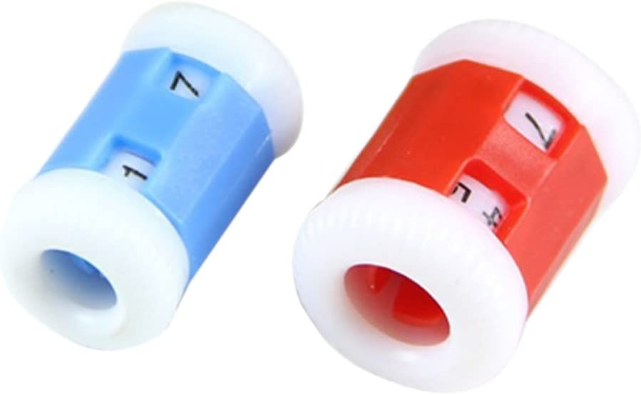 R Large 2.2 * 1.5cm+Small 2.2 * 1.2cm 2 Large Red Plastic Knit Knitting Needles Row Counter +2 Small Blue Plastic Knit Knitting Needles Row Counter SODIAL