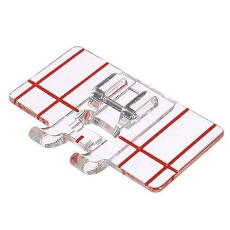 Prensatelas para puntadas paralelas de plástico transparente, herramienta de costura para má
