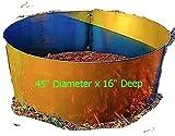 16'' Deep x 45'' Diameter Round Fire Pit Ring Liner Insert