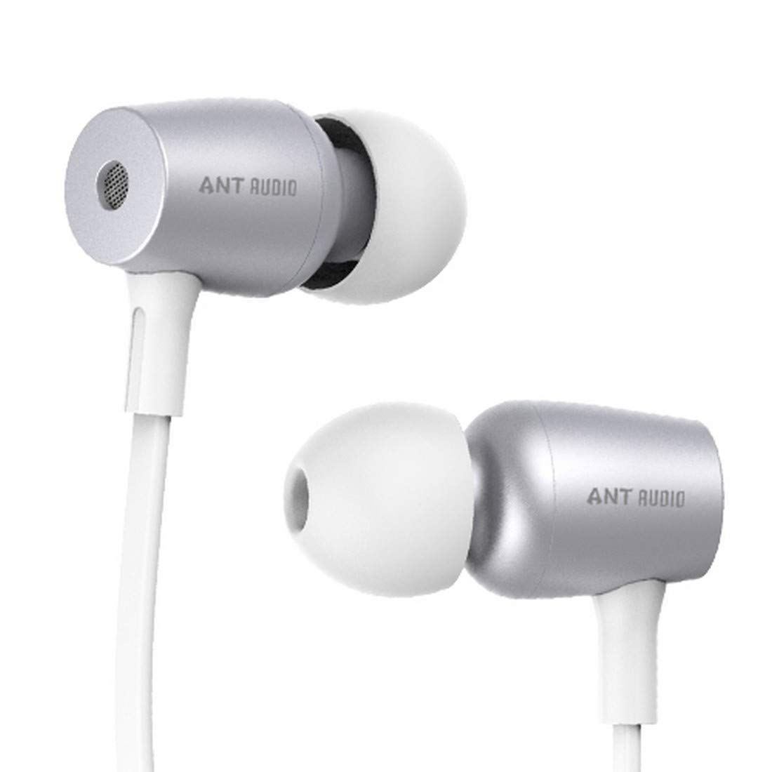 192eee857d7 Ant Audio Thump 504 Wired Portable Hi-Fi Earphone with Mic (White and  Silver): Buy Ant Audio Thump 504 Wired Portable Hi-Fi Earphone with Mic  (White and ...