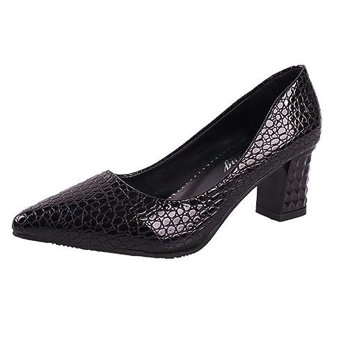 Sexy Piel Mujer Hechos Altos Tacones Salón Zapatos Mujeres FpXRq