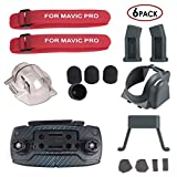 (US) AxPower 6 in 1 Accessories Kit for DJI Mavic Pro Quadcopter Drone, Landing Gear Leg Extender, Gimbal Guard Protector, Motor Cap, Remote Joystick Holder, Propeller Guard Fixator, Lens Hood