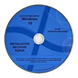 Windows 10 Pro & Home Install Reinstall Restore Upgrade Repair Recovery 64 bit x64 All in One Disc WNYPC Utility DVD