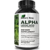 ALA ALC Supplement - Alpha Lipoic Acid Acetyl L Carnitine - Antioxidant Cellular Health Repair Pills - Glucose Metabolism for Energy Improve Cognitive Memory Nerve Health - Nature Berg Discount