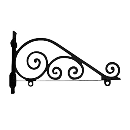 Amazon.com: Tradicional de hierro forjado Sign Pole Bracket ...