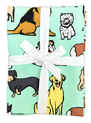 (Set of Three Tea Towels Dog)