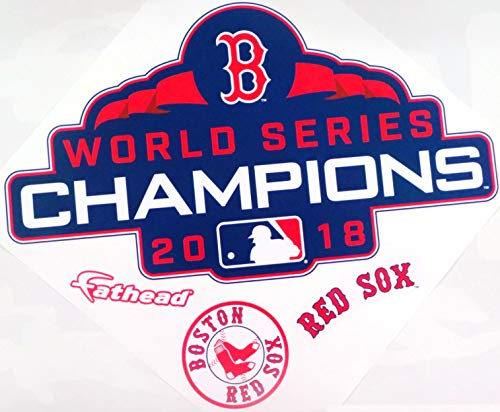FATHEAD Boston Red Sox Graphic 2018 World Series Champs Logo Official MLB Vinyl Wall Graphic 15