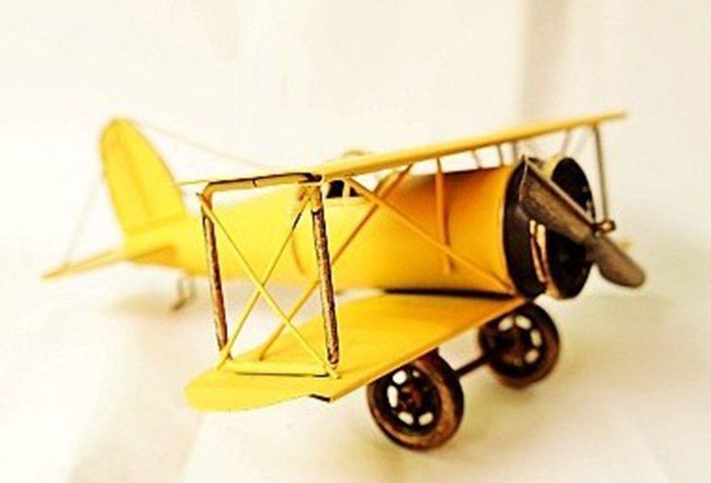 Metal Biplane Plane Aircraft Models The Best Choice for Photo Props Home Decor//Ornament//Souvenir Study Room Desktop Decoration Silver001 Vintage Retro Iron Aircraft Handicraft