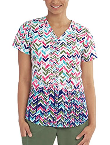 Barco ''NRG' V-Neck Print Top' Scrub Top Bow & Arrow 2XL (Barco Print)