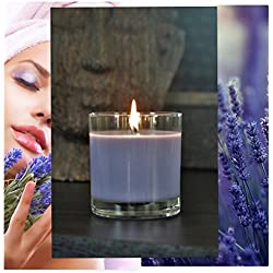 Manu Home CALM Lavender Scented Aromatherapy Candle ~ Made with Quality Aromatherapy Oils for Relaxation ~Natural Wax~ Packed in a Beautiful Gift Box ~ 7.5 oz