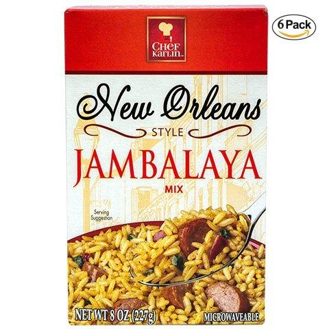 Chef Karlin New Orleans Style Jambalaya Rice - 6 Pack (8 oz)