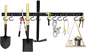 Garage Tool Organizer, Adjustable Storage System 48Inch, Wall Holders for Tools, Wall Mount Tool Organizer, Garden Tool Organizer, Garage Storage (Black)