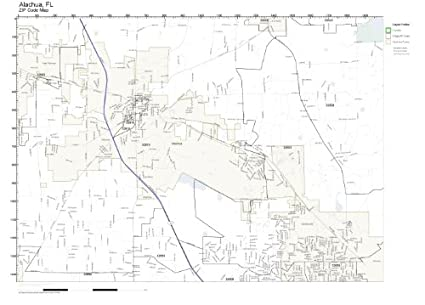 Alachua Florida Map.Amazon Com Zip Code Wall Map Of Alachua Fl Zip Code Map Laminated