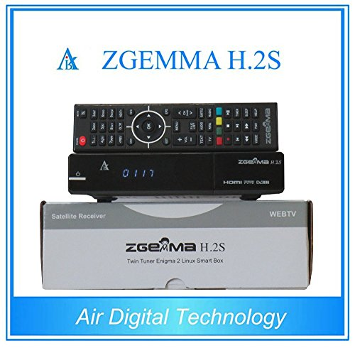Zgemma H 2S Dual Core Twin Tuner Satellite Receiver with EPG