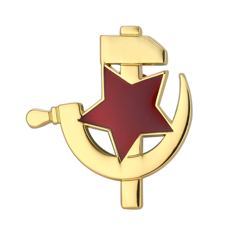 Amazon gudeke cccp soviet ussr red star hammer sickle lapel amazon gudeke cccp soviet ussr red star hammer sickle lapel pin badge gold jewelry biocorpaavc Gallery
