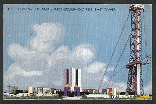 (US Government States Group Sky Ride East Tower Century of Progress 1933 postcard)