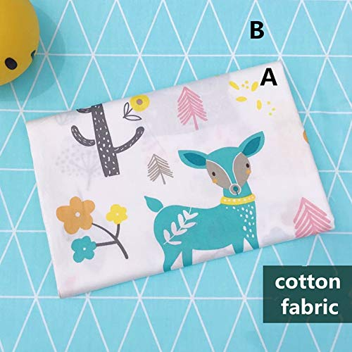 (Deer Rabbit Cotton Fabric 160cm50cm Sewing Baby Cloth Kids Bedding Linens Quilting Fabric Sewing Tissue)