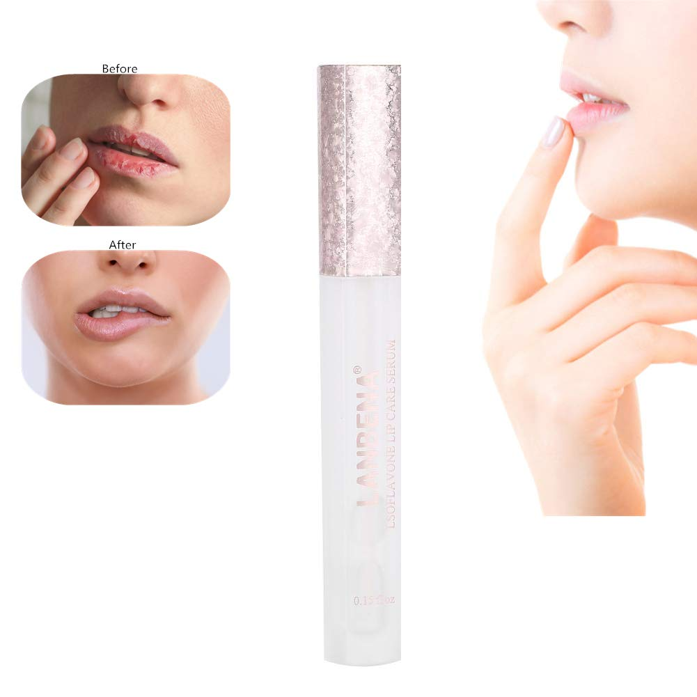 LANBENA Lips Booster Hydrating, Lip Care Essence Enhances Lips Elasticity Moisturizing Lightening Lips Serum Semme