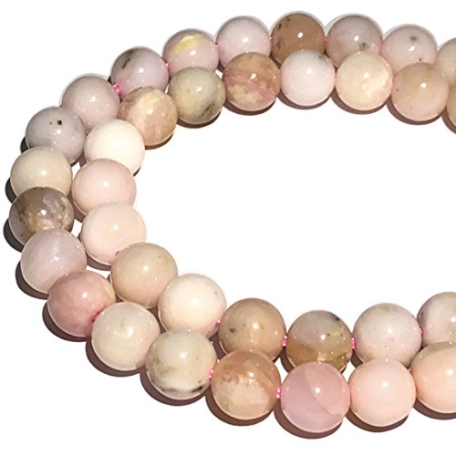 [ABCgems] Peruvian Pink Opal (Beautiful Matrix) 6mm Smooth Round Beads (Peruvian Opal Round Beads)