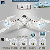 CX - 33C Tricopter CX-33C HD 1.0MP Camera High Hold 2.4G 4CH Built-in 6 Axis Gyro 3D Rollover with Light