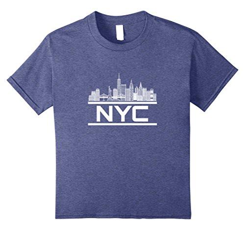 Kids NYC New York City Skyline Souvenir 3 T-shirt 10 Heather - New Souvenirs Kids For York