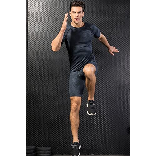 FASKUNOIE Men's 2 Pack Performance Compression Shorts Cool Dry Sports Tights