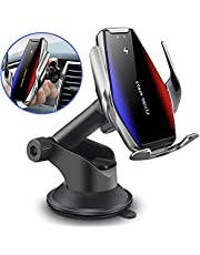 FDGAO Wireless Car Charger 15W/10W Qi Fast Charging Car Phone Holder for Air Vent and Dashboard; Auto-Clamping Car Mount Wireless Charger for iPhone SE/11/11 Pro/XS Max/8, Samsung Galaxy S10/Note10
