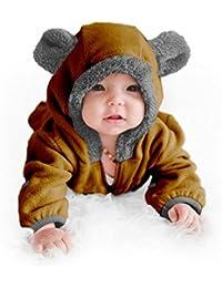 Fleece Baby Bear Bunting Jacket - Infant Winter Snowsuit...