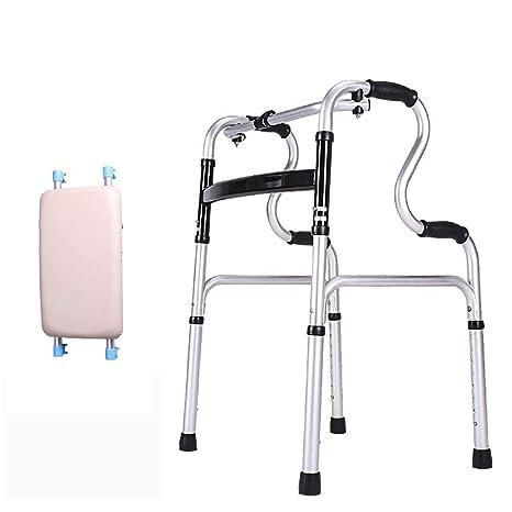 B WALKER Andador Estable, Andador Plegable de Aluminio con ...