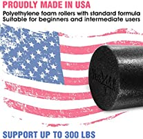 """Yes4All 12/"""" Foam Roller PE High Density Extra Firm Yoga Pilates"""