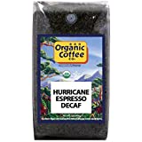 The Organic Coffee Co, Decaf Hurrican Espresso- Whole Bean, 2-Pound (32 oz.), Swiss Water Process- Decaffeinated, USDA Organic