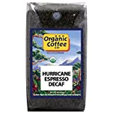 The Organic Coffee Co Decaf Hurricane Espresso Whole Bean, 2 Pound Bag, Swiss Water Process- Decaffeinated USDA Organic Whole Bean Premium Coffee, For Use with At-Home Coffee Grinders/Coffee Makers For Sale