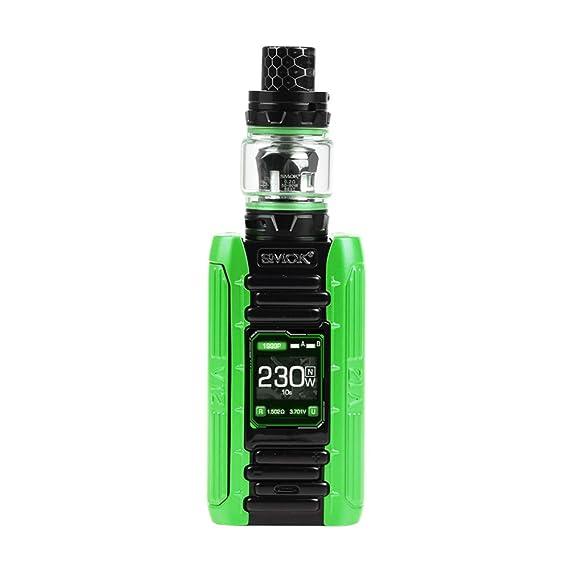 SMOK E-PRIV 230W Starter Kit Cigarette Electronique Kit Complet 8ML Avec TFV12 Prince Tank - Sans Nicotine Ni Tabac (Vert Noir)